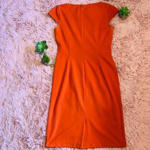 Tahari Dresses - Tahari Orange Cap Sleeve Dress